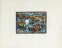 安德烈·洛特 - 版画 - Port de Bordeaux