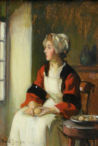Joseph BAIL - Painting - La jeune cuisinière devant la fenêtre