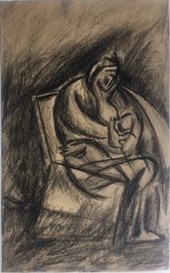 Wladimir TATLIN - Dibujo Acuarela - maternité
