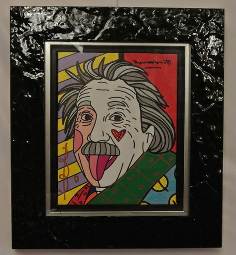 Romero BRITTO - Gemälde - Einstein Love Forever