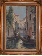 Raymond ALLEGRE - Dibujo Acuarela - Venetian landscape