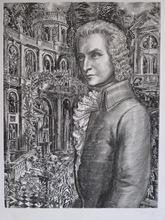 Albert DECARIS - Grabado - GRAVURE MOZART SIGNÉE AU CRAYON NUM/150 HANDSIGNED ETCHING