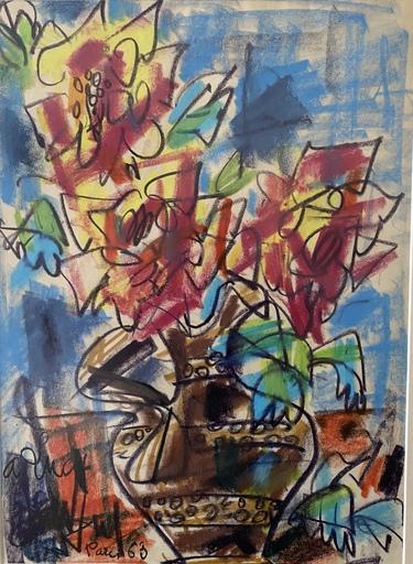 GEN PAUL - Zeichnung Aquarell - Bouquet de Fleurs
