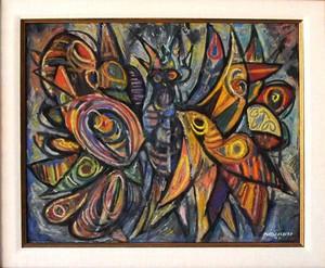 René PORTOCARRERO - Painting - Mariposa