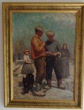 Emile BULCKE - Pintura - Dans le Port