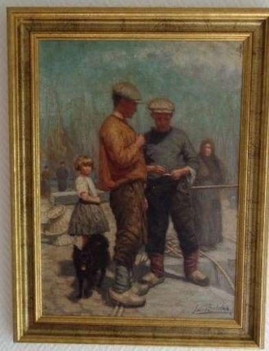 Emile BULCKE - Gemälde - Dans le Port