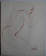 Gérard DARAN - Dessin-Aquarelle - DESSIN EROTIQUE 1976 AU CRAYON SIGNÉ MAIN HANDSIGNED DRAWING