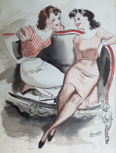 Gino BOCCASILE - Drawing-Watercolor - Le grandi firme