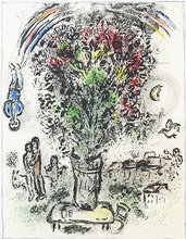Marc CHAGALL - Estampe-Multiple - BOUQUET À L'ARC-EN-CIEL