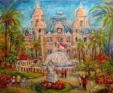 Jacques RUIZ - Pintura - Monaco Casino