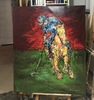 Nicole LEIDENFROST - Gemälde - Polo in rot