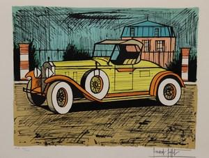 Bernard BUFFET - Print-Multiple - Packard 1928 jaune