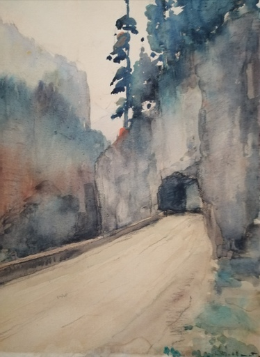 Charles MATHONAT - 水彩作品 - Le Tunnel