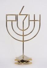 Yaacov AGAM - Sculpture-Volume - Shalom Menorah (tri-base)