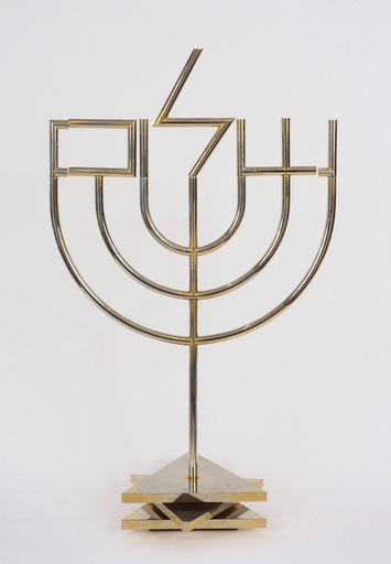 Yaacov AGAM - Sculpture-Volume - Shalom Menorah (tri-base)