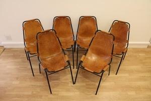 Charlotte PERRIAND - Six chaises pour les Arcs