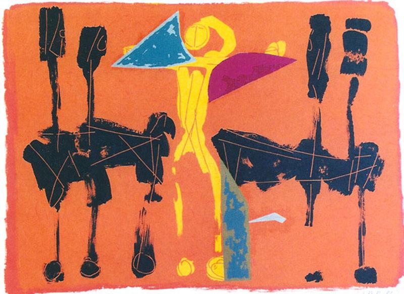 Marino MARINI - Print-Multiple - *Chevaux et Cavaliers