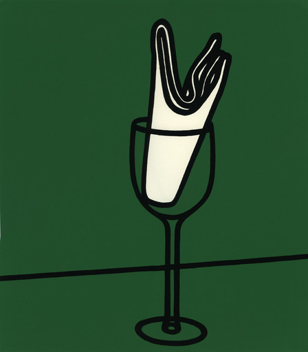 Patrick CAULFIELD - Estampe-Multiple - Her handkerchief swept me along the Rhine