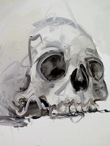 Philippe PASQUA - Peinture - Crâne