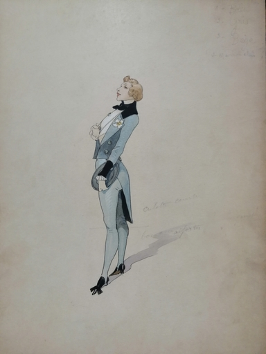Alfred CHOUBRAC - Drawing-Watercolor - Le Dandy