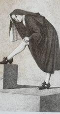 Vittorio POLIDORI - Grabado - La monaca di Monza