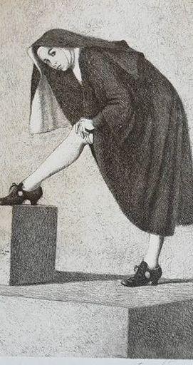 Vittorio POLIDORI - Stampa Multiplo - La monaca di Monza
