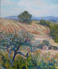 Anne DE LARMINAT - Painting - Foins en Toscane