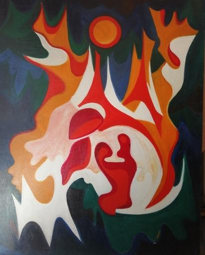 Dietrich MANNEL - Painting - Soleil