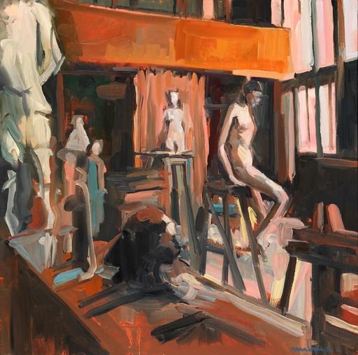 Carole MELMOUX - Painting - Scène Atelier 5 Atelier de Bourdelle