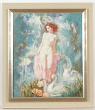 "Istvan PRIHODA - Peinture - ""Source"", oil on canvas, 1920/30s"
