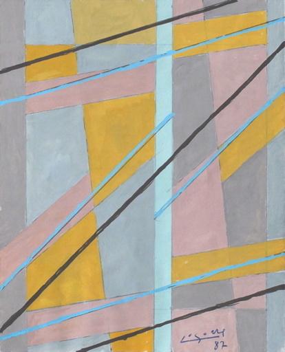 René Gaston LAGORRE - Dibujo Acuarela - Compositions abstraites (paire)