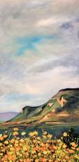 R.CAVALIÉ - Pintura - De Piroffe. Fleurs sur Grand Colombier avec grand ciel.