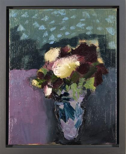 Jennifer HORNYAK - Painting - Burgundy with Cream