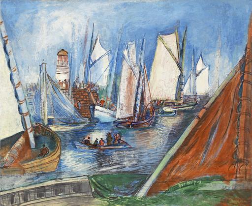 Jean DUFY - Pintura - L'île d'Yeu