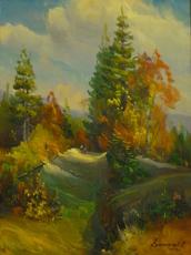 Vasil SVALJAVCIK - Peinture - Waldland