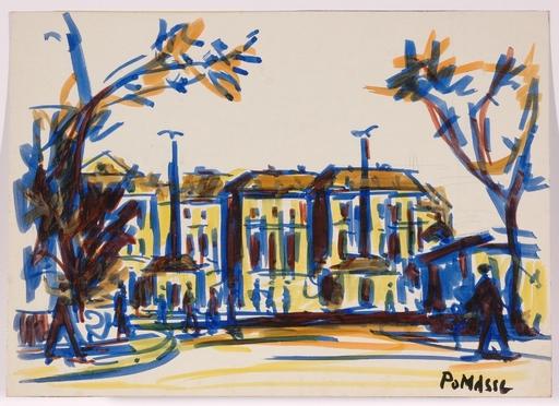"""Franz POMASSL - Gemälde - """"Schoenbrunn in Vienna"""" 1970s, drawing"""