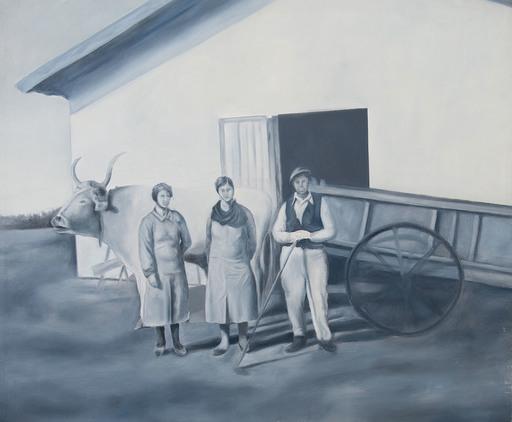 Gian Marco MONTESANO - Painting - insieme nella nuova contrada