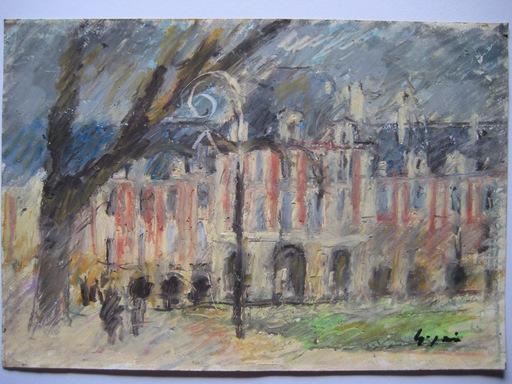 Pierre GOGOIS - Drawing-Watercolor - 4 DESSINS AU PASTEL GRAS SIGNÉS 4 SIGNED PASTEL DRAWING