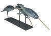 Damien COLCOMBET - Sculpture-Volume - Trois narvals