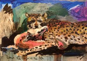 Julia PEKER-MOKHOVIKOVA - Pintura - Cheetah and Gazelle