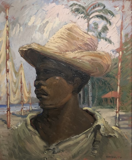 CHarles CHARDAR - Gemälde - Portrait
