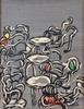 Ida BARBARIGO - Pintura - Seggiole Di Colore (Color Chairs)
