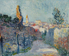 Louis VALTAT - Painting - Village à la tour