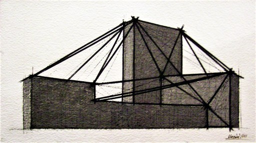 Giuseppe UNCINI - Gemälde - Progetto (Spazi di ferro)