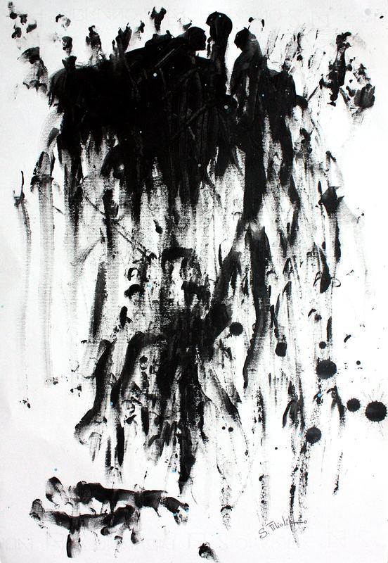 Saverio FILIOLI - Painting - Aggrapparsi