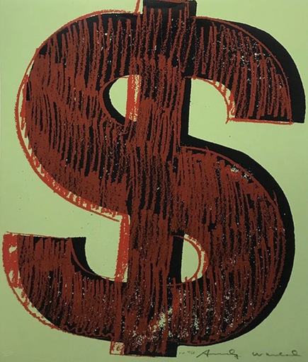 Andy WARHOL - Stampa Multiplo - Dollar sign (FS II. 274)