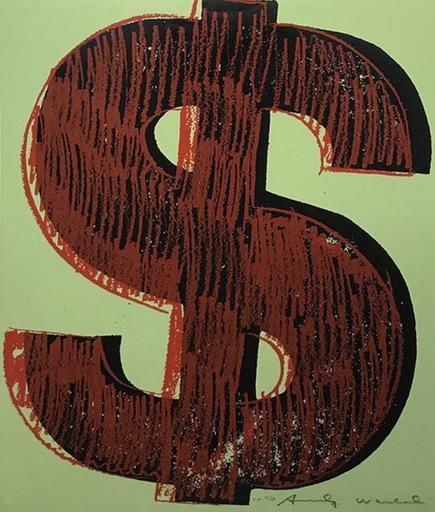 Andy WARHOL - Stampa-Multiplo - Dollar sign (FS II. 274)