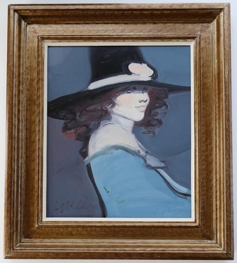 Juan GARCÉS ESPINOSA - Pittura - Lady with a Hat