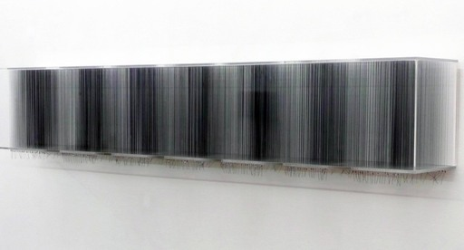 Robert CURRIE - Sculpture-Volume - 770 m of black nylon monofilament