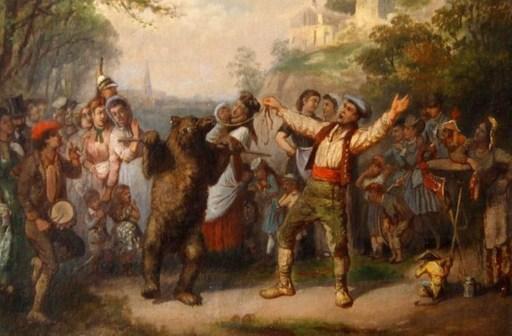 Léon Joseph VOIRIN - Gemälde - Le montreur d'ours